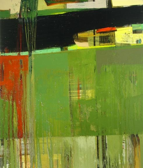 "Adobe 11, 43"" x 36"", Oil on canvas"