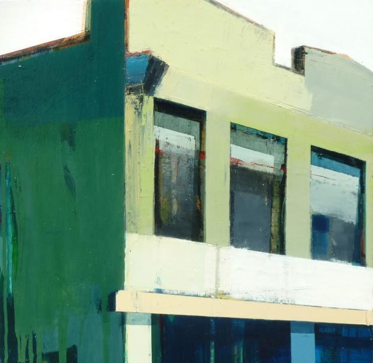 "Sunny Corner, 24"" x 24"", oil on panel"