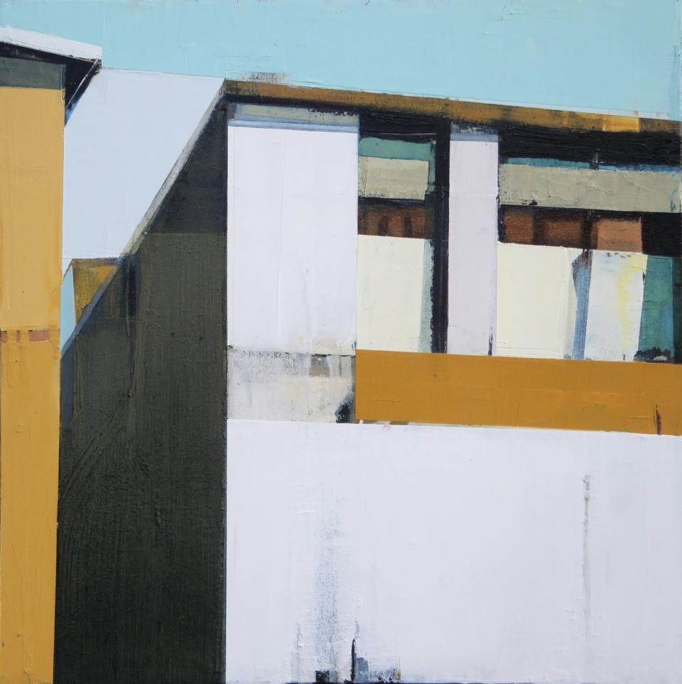 """White Building, 20"""" x20"""", oil on canvas"""
